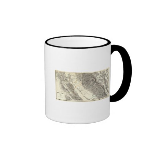 Topographical Map of Central California Mug