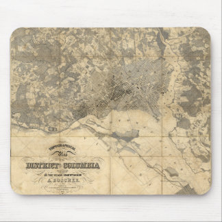 Topographical Map of District of Columbia (1861) Mouse Pad