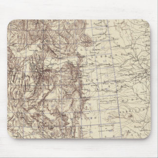 Topographical Map of Mississippi River Mouse Pad