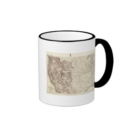 Topographical Map of Mississippi River Coffee Mugs