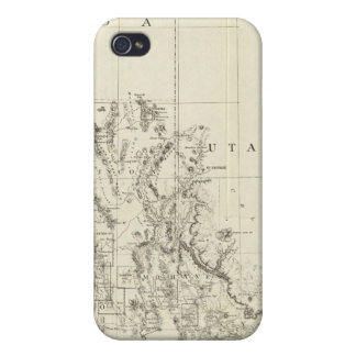 Topographical Map of Nevada and Arizona iPhone 4 Cover