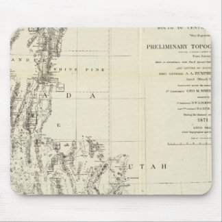 Topographical Map of Nevada and Arizona Mouse Mat