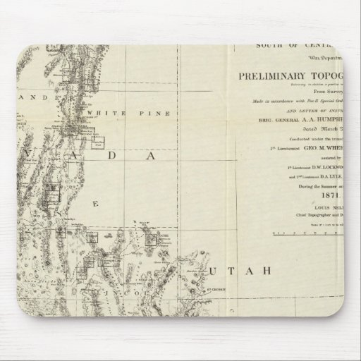 Topographical Map of Nevada and Arizona Mouse Pad