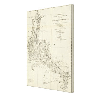 Topographical Map of Nevada and Arizona Stretched Canvas Prints