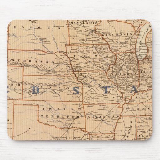 Topographical Map of the United States Mouse Pads