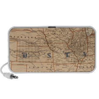 Topographical Map of the United States Mp3 Speaker