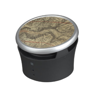 Topographical Map of The Yosemite Valley 2 Bluetooth Speaker