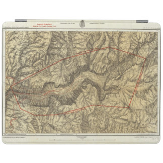 Topographical Map of The Yosemite Valley 2 iPad Cover