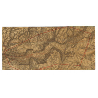 Topographical Map of The Yosemite Valley 2 Wood USB 2.0 Flash Drive