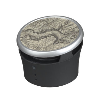 Topographical Map of The Yosemite Valley Bluetooth Speaker
