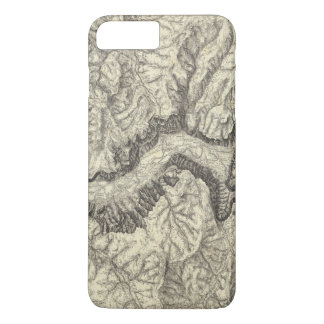 Topographical Map of The Yosemite Valley iPhone 8 Plus/7 Plus Case