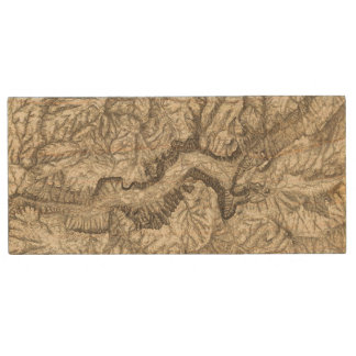 Topographical Map of The Yosemite Valley Wood USB 2.0 Flash Drive