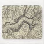 Topographical Map of The Yosemite Valley Mouse Mat