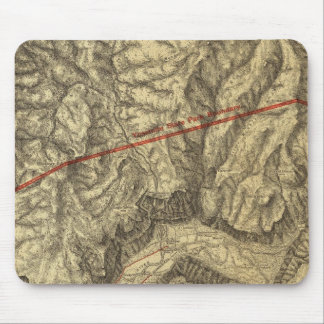 Topographical Map of The Yosemite Valley Mouse Pad