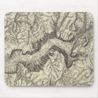 Topographical Map of The Yosemite Valley Mousepad
