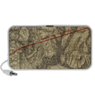 Topographical Map of The Yosemite Valley Laptop Speakers