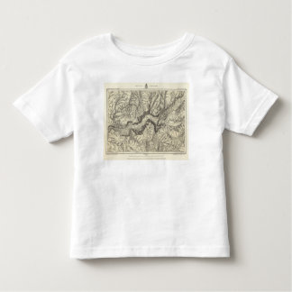 Topographical Map of The Yosemite Valley Toddler T-Shirt