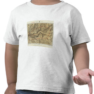 Topographical Map of The Yosemite Valley Shirts