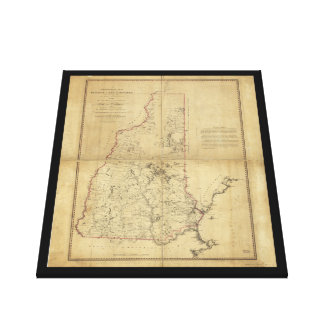 Topographical Map Province of New Hampshire (1784) Canvas Print