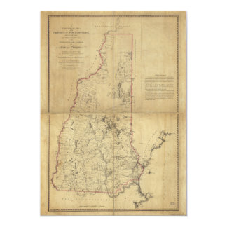 Topographical Map Province of New Hampshire (1784) Card
