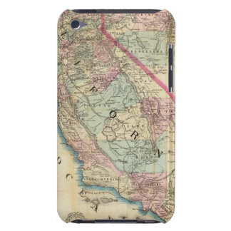 Topographical Railroad and County Map, California iPod Touch Covers