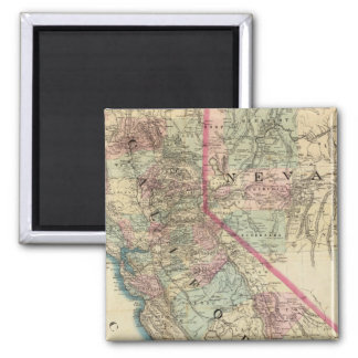 Topographical Railroad and County Map, California Magnet