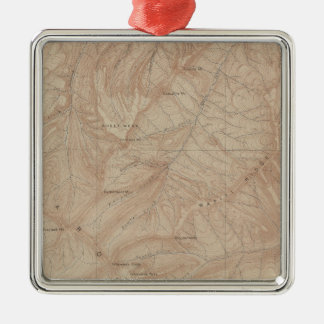 Topography Map, Yellowstone National Part, Wyoming Christmas Ornament