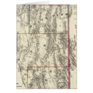 Topography of Southern Nevada Card