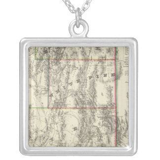 Topography of Southern Nevada Silver Plated Necklace