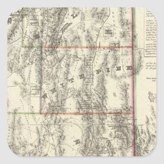 Topography of Southern Nevada Square Sticker