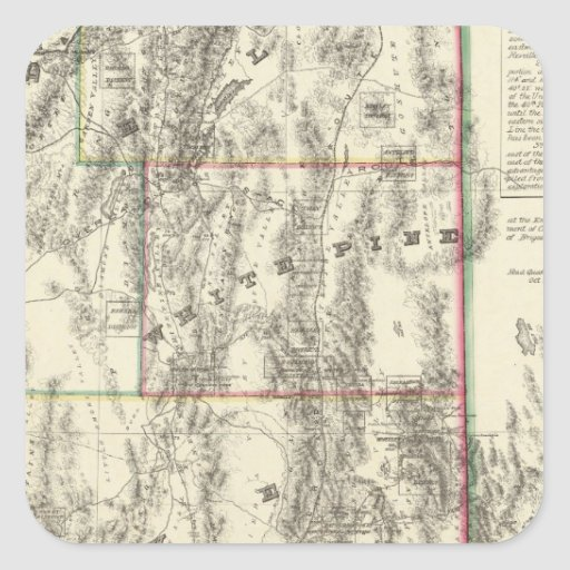 Topography of Southern Nevada Square Stickers