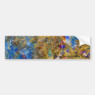 """""""Topography"""" Products Car Bumper Sticker"""
