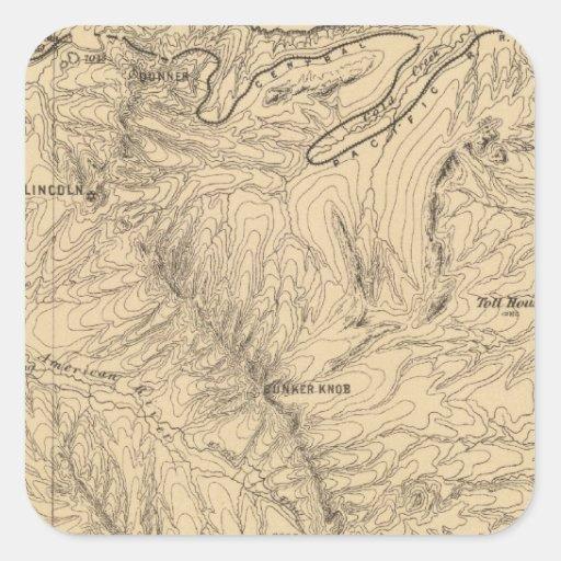 Topography TruckeeDonner Pass Region, California Square Sticker