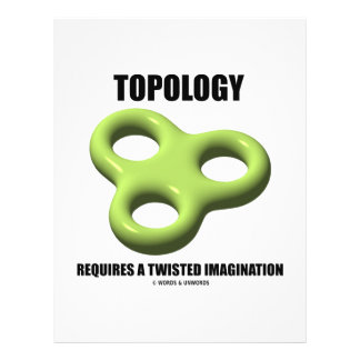 Topology Requires A Twisted Imagination (Toroid) 21.5 Cm X 28 Cm Flyer