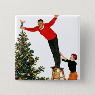 Topping the Tree 15 Cm Square Badge