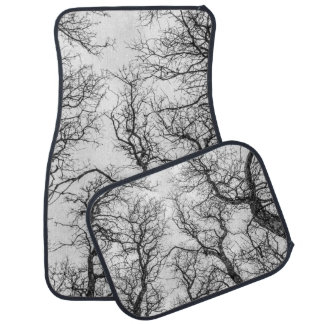 Tops of Crooked, Bare Trees Floor Mat