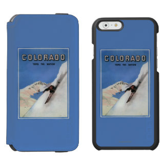 Tops the Nation - Skiing Promotional Poster Incipio Watson™ iPhone 6 Wallet Case