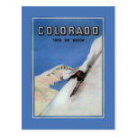 Tops the Nation - Skiing Promotional Poster Postcard