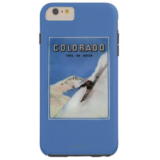 Tops the Nation - Skiing Promotional Poster Tough iPhone 6 Plus Case