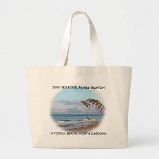TOPSAIL BEACH 1, N TOPSAIL BEACH, NORTH CAROLIN... LARGE TOTE BAG