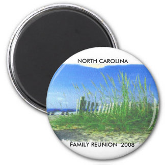 TOPSAIL BEACH 2 FAMILY REUNION 2008 NORTH CA REFRIGERATOR MAGNET