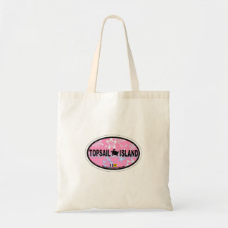 Topsail Island Oval Design. Tote Bags