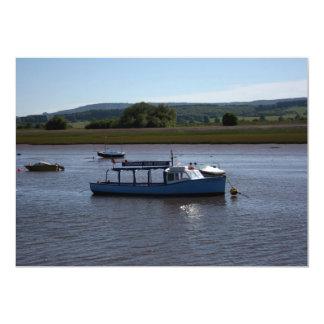 Topsham Turf ferry, Topsham, Devon, UK 13 Cm X 18 Cm Invitation Card
