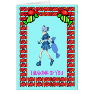 Topsy toffee and toffees greeting card