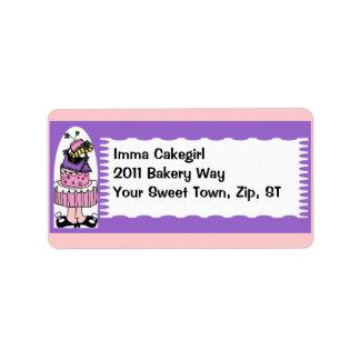Topsy Turvy Cake address label