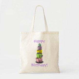 Topsy Turvy Cake Gift Tote Budget Tote Bag
