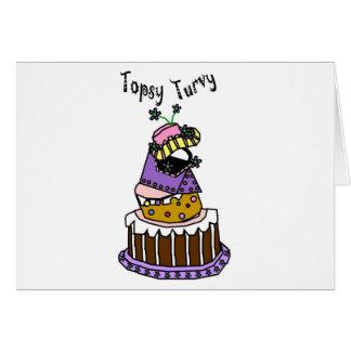 Topsy Turvy Greeting Card