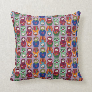 topsy turvy matryoshka dolls throw pillow