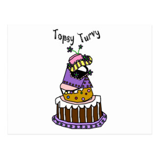 Topsy Turvy Postcard