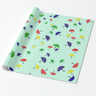 Topsy Turvy Umbrellas Wrapping Wrapping Paper